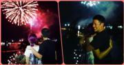 楊千嬅去年2月生日與丈夫丁子高、囝囝Torres及大班朋友去外地旅行。生日前夕,丁子高為她送上驚喜,除了海邊的燭光晚餐、鮮花與蛋糕外,丁子高更安排了一場煙花助興。收到驚喜的千嬅與丈夫深情擁抱,浪漫又甜蜜。
