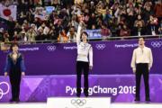【平昌冬奧】羽生結弦獲317.85分摘金,成歷來第2個衛冕冬奧男子花滑的選手。(法新社)