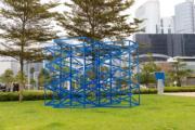 【藝遊維港—中西區海濱長廊】Rasheed Araeen作品《Hong Kong Blues》(2018)