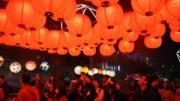 台北燈節(中新社)