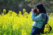 3月10日,在福建省閩侯縣農民花卉種植創業示範基地,油菜花、桃花、梨花和櫻花等競相開放。(新華社)