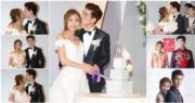 林奕匡和太太李靄璣今晚(6號)補擺婚宴,他們在婚宴咀不停,認真甜蜜。(攝影:黃梓烜)