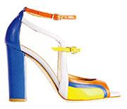 粗踭彩色涼鞋迎春天