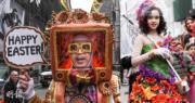 2018年4月1日,「Easter Parade and Bonnet Festival」復活節巡遊在美國紐約舉行。(法新社、新華社)