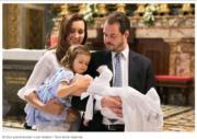 盧森堡王子Prince Felix、Princess Claire於2014年誕下女兒Princess Amalia,2016年再添一名小王子Prince Liam。圖片攝於2017年4月。(www.monarchie.lu網站截圖)
