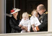 摩納哥阿爾貝二世親王(Prince Albert II)與王妃維特斯托克(Princess Charlene Wittstock)育有一對可愛的龍鳳胎。(資料圖片/PPE/Sipa USA/Newscom)