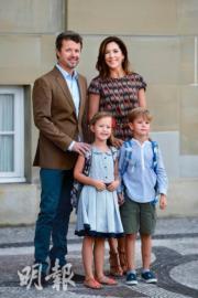 2017年8月,丹麥王儲弗雷德里克與儲妃瑪麗的一對龍鳳胎Vincent小王子及Josephine小公主開學。(法新社)