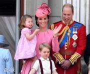 英國劍橋公爵威廉王子與太太凱特、子女喬治小王子和夏洛特小公主(法新社)
