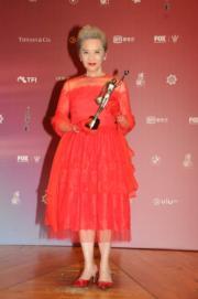 葉德嫻已是第3度奪得「最佳女配角」獎,果然是老戲骨。(攝影:娛樂組)