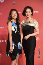 毛舜筠和細女區亦山出席頒獎禮。(攝影:娛樂組)