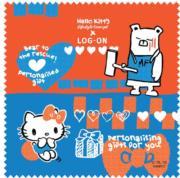 【LOG-ON x Hello Kitty Lifestyle Concept主題限定店】Hello Kitty眼鏡布($35)(圖片由相關機構提供)