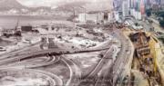 左圖為紅磡海底隧道,右圖為建設中的金鐘站。(©Heather Coulson,圖片由香港大學提供)