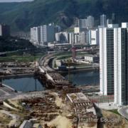 1986年,施工中的沙田橋(©Heather Coulson,圖片由香港大學提供)
