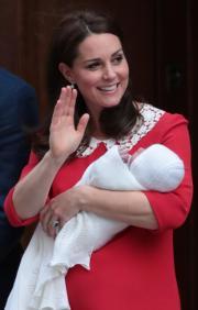 凱特於2018年4月23日誕下小王子。(法新社)