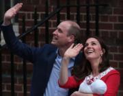 威廉王子(左)與凱特(右)(法新社)
