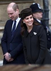 英國劍橋公爵伉儷威廉王子(左)和凱特(右)(法新社)