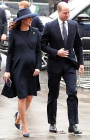 2018年3月12日是Commonwealth Day,凱特(左)與威廉王子(右)出席慶祝活動。(法新社)