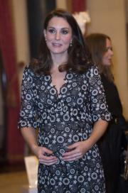 2018年2月19日,英國劍橋公爵夫人凱特協辦Commonwealth Fashion Exchange的活動。(法新社)