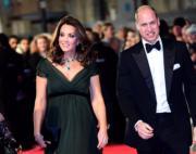 凱特(左)及威廉(右)一起出席英國電影學院頒獎禮。(Kensington Palace Twitter圖片)
