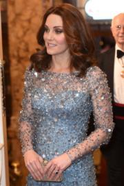 2017年11月24日,懷孕的凱特出席活動。(法新社)