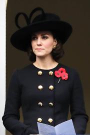 2017年11月12日,凱特出席紀念陣亡將士的活動。(法新社)