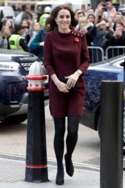 2017年11月8日,懷着第3胎的劍橋公爵夫人凱特出席活動。(法新社)