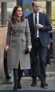 英國劍橋公爵及夫人凱特一起出席活動。(法新社)