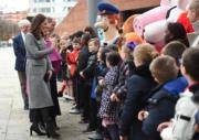 英國劍橋公爵夫人凱特出席活動。(法新社)