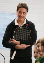 凱特熱愛網球。(法新社)