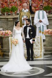 2015年6月,瑞典菲利普王子娶前真人騷女星兼性感模特兒赫爾奎斯特。(法新社資料圖片)