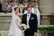 2013年6月,瑞典馬德萊娜公主嫁給Christopher O'Neill。(www.kungahuset.se網站圖片)