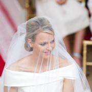 2011年7月,南非前奧運游泳選手維特斯托克 (圖) 嫁給摩納哥元首。[Monaco Wedding (official) facebook圖片]