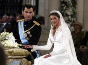 2004年5月,西班牙王儲費利佩與萊蒂西亞結婚。王儲於2014年登基成為國王費利佩六世。(www.casareal.es網站圖片)