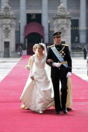 2004年,西班牙王儲費利佩與萊蒂西亞結婚。(www.casareal.es網站圖片)