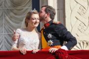 2012年,盧森堡大公儲(相當於王儲)紀堯姆迎娶比利時女伯爵德拉努瓦。(www.monarchie.lu網站圖片)
