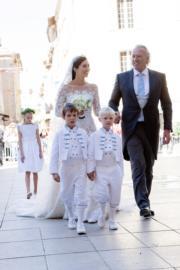 2013年,盧森堡王室婚禮中的新娘子Claire Lademacher(www.monarchie.lu網站圖片)