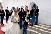 2008年5月,丹麥王子約阿基姆再婚,迎娶法國人卡瓦利耶。(kongehuset.dk網站圖片)