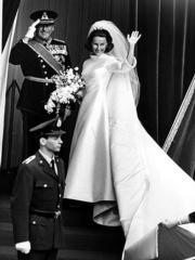 1968年,挪威國王哈拉爾五世與索尼婭結婚。(www.royalcourt.no網站黑白圖片)