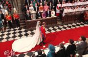 【英國王室新娘】2011年4月29日,凱特與威廉王子在西敏寺舉行婚禮。(法新社資料圖片)