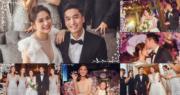 阿嬌與台灣醫生賴弘國在美國洛杉磯舉行浪漫婚前派對。(明報製圖)