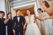 賴弘國與阿嬌在派對上頻頻露出幸福的笑容。(大會提供圖片)