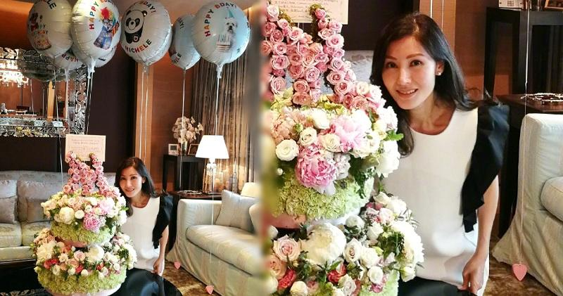 【老公囝囝送嘅?】李嘉欣48歲生日 收兩層高玫瑰花籃 (12:50)