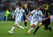 【世界盃‧阿根廷戰克羅地亞】阿根廷前鋒美斯 (穿10號球衣) (新華社)