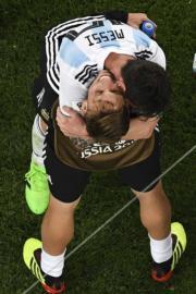 【世界盃‧阿根廷挫尼日利亞2:1】阿根廷前鋒美斯 (上) (法新社)