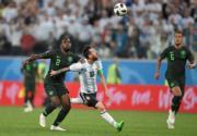 【世界盃‧阿根廷挫尼日利亞2:1】阿根廷前鋒美斯 (中) (法新社)