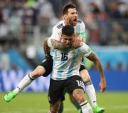 【世界盃‧阿根廷挫尼日利亞2:1】阿根廷前鋒美斯 (上) (新華社)