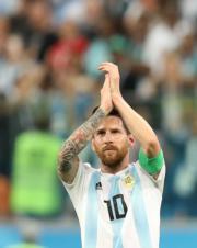 【世界盃‧阿根廷挫尼日利亞2:1】阿根廷前鋒美斯 (新華社)