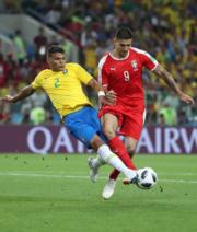 【世界盃‧巴西挫塞爾維亞2:0】 (新華社)