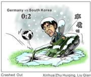 【世界盃‧韓國挫德國2:0】 (新華社)