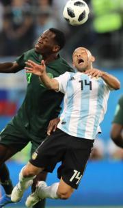 【世界盃‧阿根廷挫尼日利亞2:1】 (新華社)